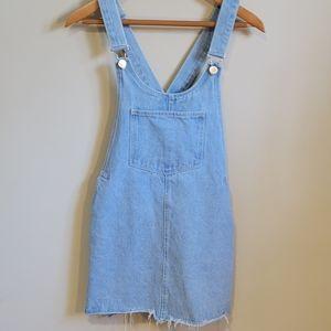 Zara Denim Jumper Dress Size Small